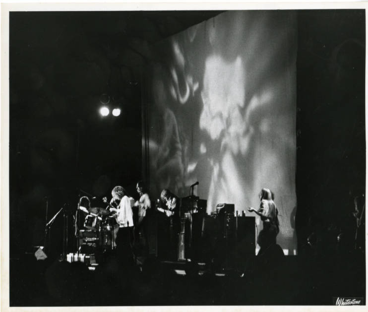 The Jefferson Airplane performing in the Shed at Tanglewood, 8/12